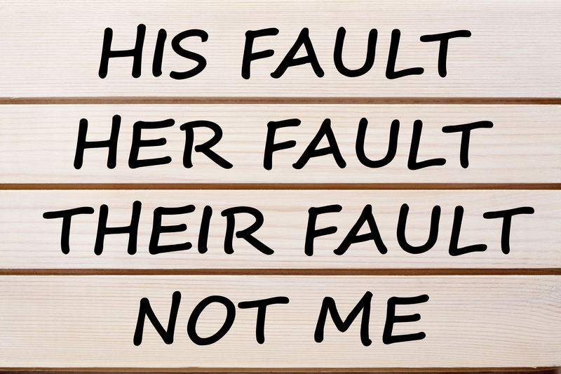 His Her Their and Not Me Fault Concept