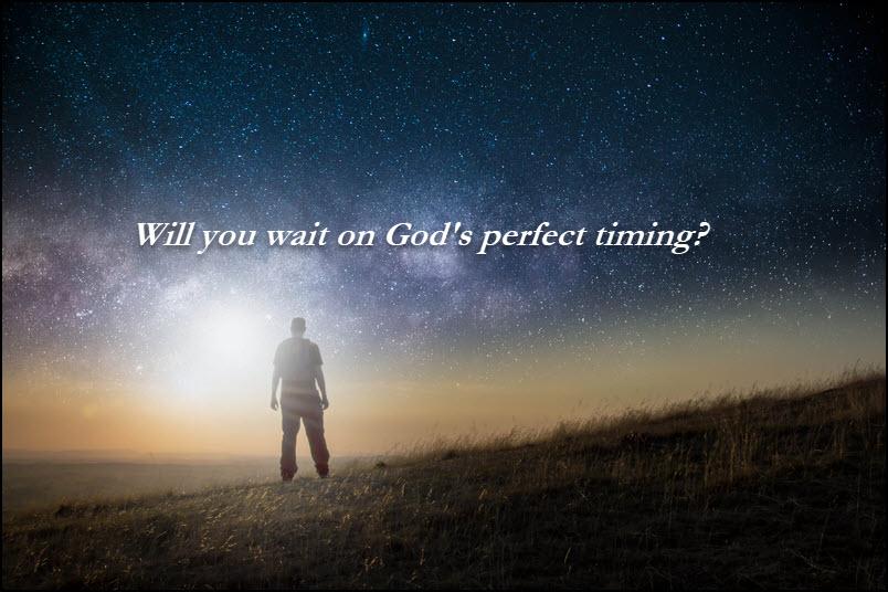 Joshua 13 waiting on God