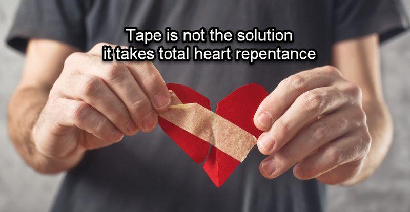 God requires a broken heart for repentance