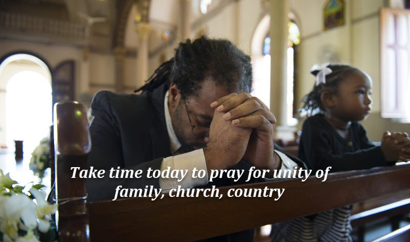 Pray for unity